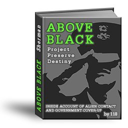 Cover of book, ABOVE BLACK.